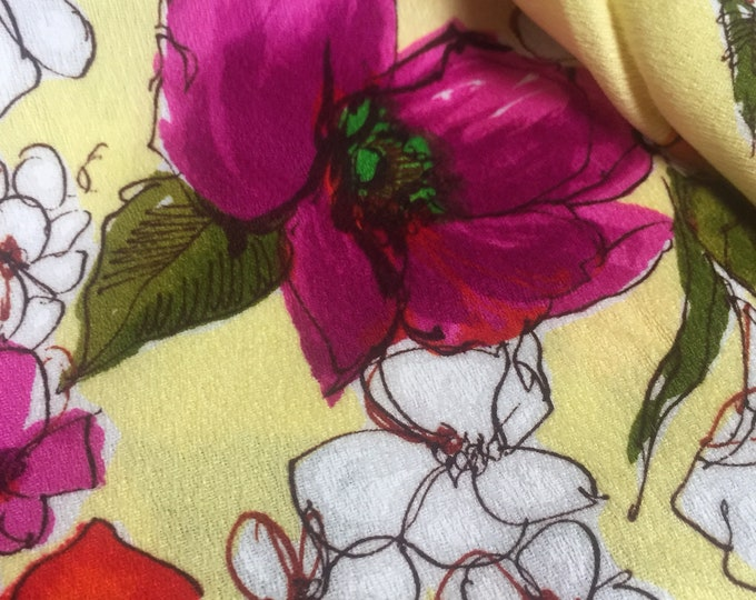 Vintage 70s Floral Fabric