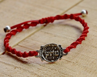 Red Charm Bracelet for Good Health 72 Names of God Hand Woven Health Bracelet for Men and Women