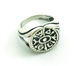 Gate Opening King Solomon 925 Sterling Silver Amulet Ring - Choose Size!