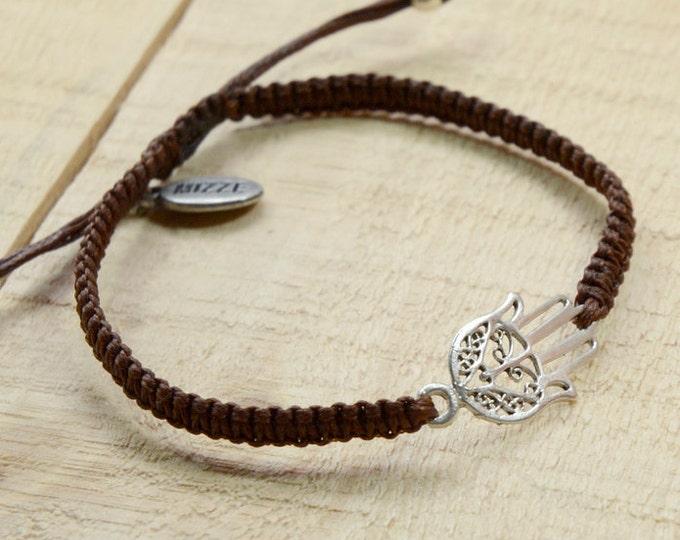 Hamsa Bracelet for Good Luck and Protection Adjustable for Men or Women