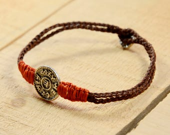 Men's Prosperity & Wealth King Solomon Amulet Charm Handwoven Bracelet