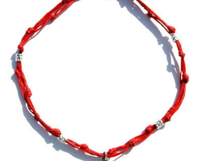Red Love King Solomon Amulet Anklet