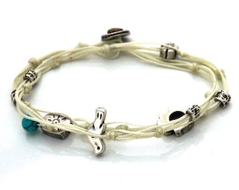 Double Wrapping Charms Bracelet for Peace & Happiness