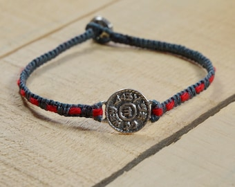 Prosperity Amulet Handwoven with Kabbalah Red String Bracelet
