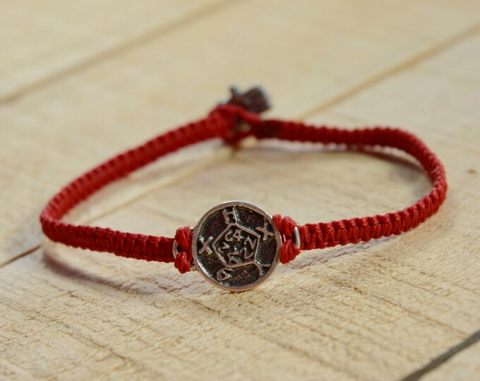 Safe Keeper 925 Sterling Silver Amulet on Handmade Macrame Bracelet - Durable for Men and Women