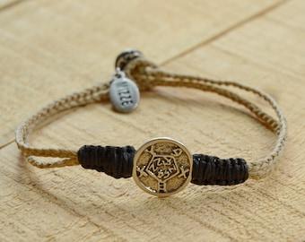 Safekeeping Solomon Seal Charm Bracelet for Men and Women