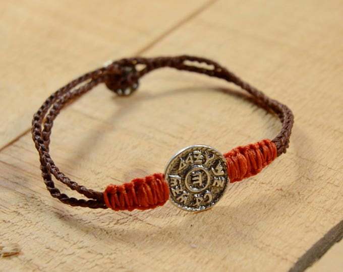 925 Sterling Silver Prosperity and Abundance Amulet on Sturdy Macrame Bracelet - Handmade for Men & Women