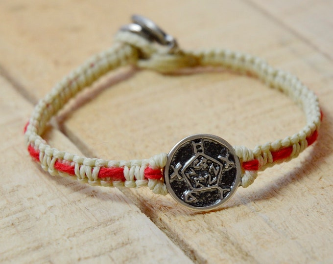 Safe Keeper Sterling Silver Amulet Handwoven with Red String Bracelet