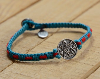 Pregnancy Amulet Handwoven with Kabbalah Red String Bracelet