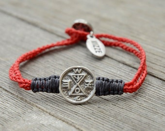 Unisex Matching & Dating King Solomon Amulet Charm Handwoven Bracelet