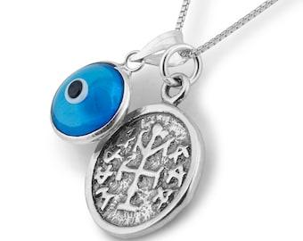 Winner Charm & Evil Eye Charm Necklace for Men and Women
