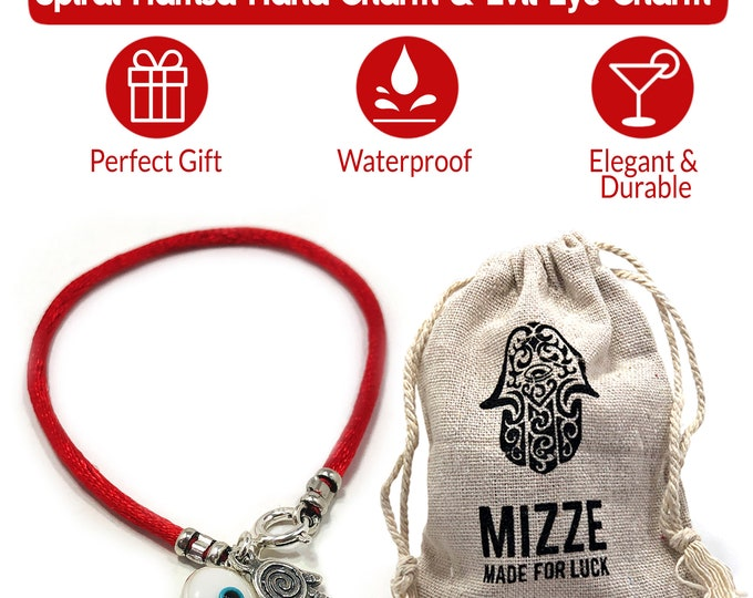 Red String Evil Eye Charm & Hamsa Protection Bracelet For Men and Women