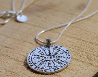 "Gate Opener Silver Solomon Seal Amulet 925 Sterling Silver for Men & Women on 20"" Necklace"
