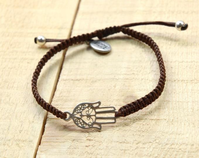 Unisex Hamsa Bracelet for Good Luck and Protection - Adjustable Hamsa Charm Bracelet for Men & Women