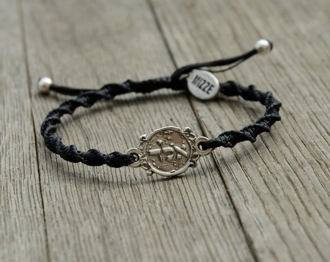 ALD 72 Names of God Black Bracelet for Protection - Adjustable Bracelet for Women