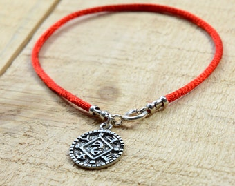 Positive Changes Amulet on Red String Bracelet