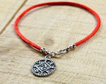 Positive Changes Amulet on Red String Bracelet