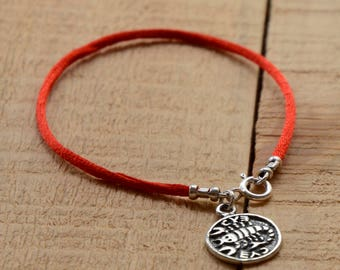 Recovery  Amulet on Red String Bracelet