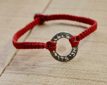 I Am My Beloved and My Beloved Is Mine, Ani Ledodi VeDodi Li, Handmade Red Charm Bracelet