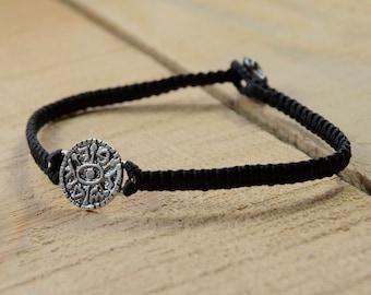 Gate Opening Amulet on Hand Woven Bracelet