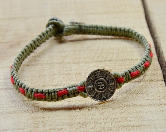 Spiritual Protection Amulet Handwoven with Red String Bracelet