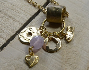 Long Gold Necklace for Love & Good Luck