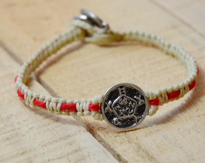 Safe Keeper Sterling Silver Amulet Handwoven with Red String Bracelet