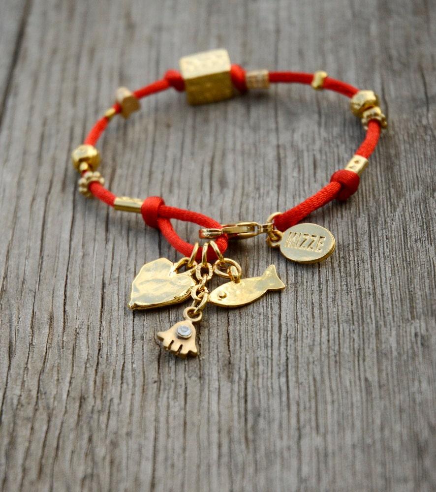 Four Names Kabbalah Red String Bracelet