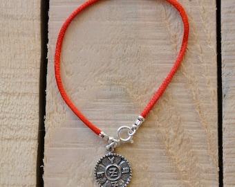 Spiritual Protection Amulet on Red String Bracelet