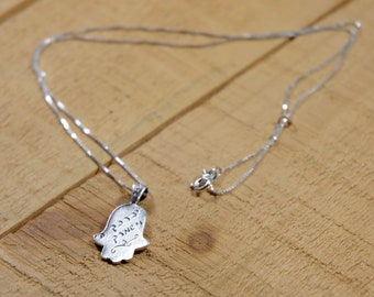 God Bless and Keep You Hamsa Necklace