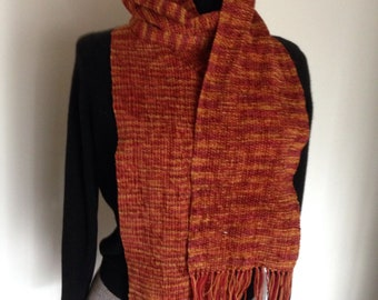 Handwoven Fire Combo rayon chenille scarf