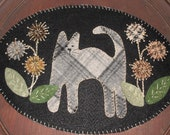 NEW Penny Rug KIT- Pre-cut Wool Applique Kit - Molly 39 s Kitten