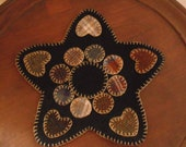 Penny Rug Candle Mat Kit- Ethan 39 s Star- Primitive Wool Embroidery