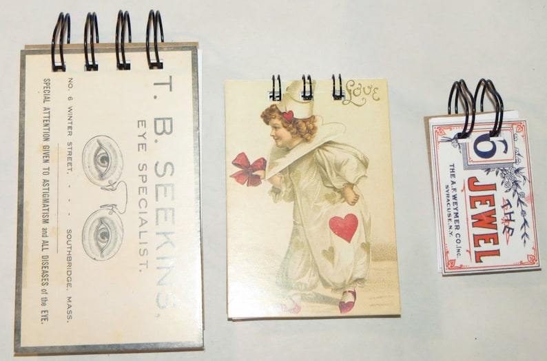 3 wire bound note pads the jewel The clown and T.B. Seekins image 0