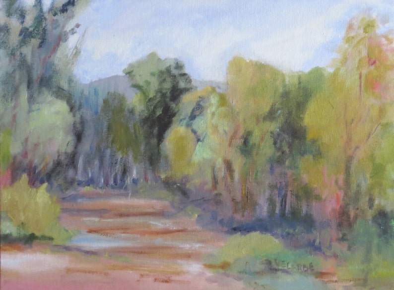 12 x 16 inch Oil Painting En Plein Air San Diego River image 0
