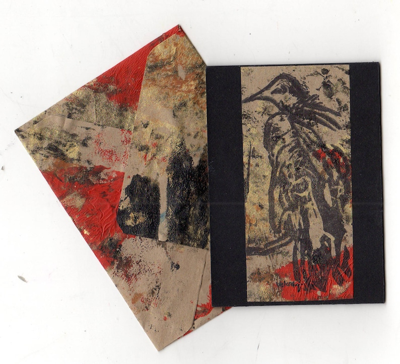 Vulture ATC ACEO with matching envelope image 1