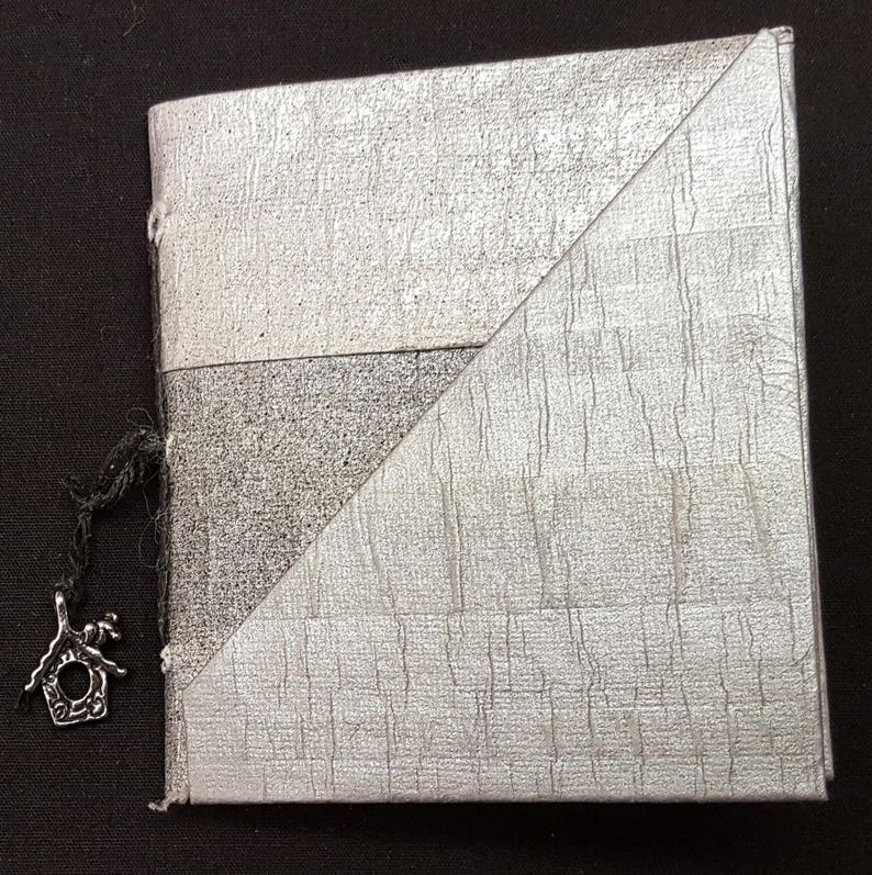 Small Booklet with Bird House Charm and Pockets and Slots image 0