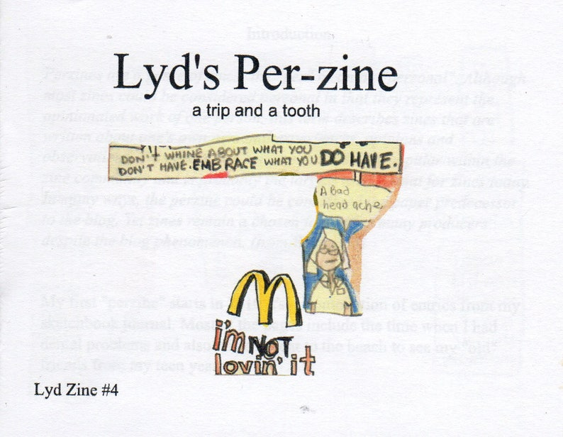 Lyd Zine 4 A Perzine a trip and a tooth  full color 20 image 0