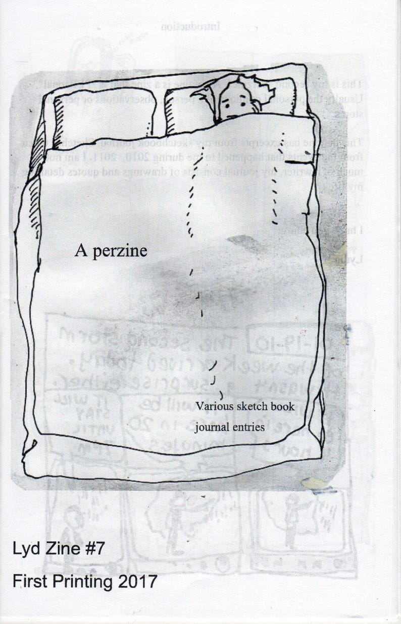 Lyd Zine 7 A Perzine: Various journal entries in cartoon image 0