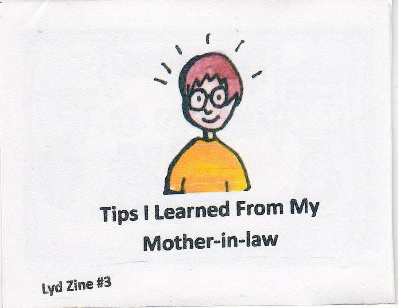 Lyd Zine 3 Tips I Learned From My Mother-in-law image 0