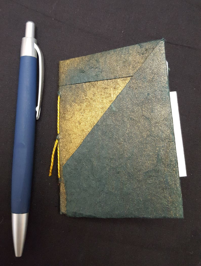 Small Blank Book with Origami Cover with pockets and slots for image 0