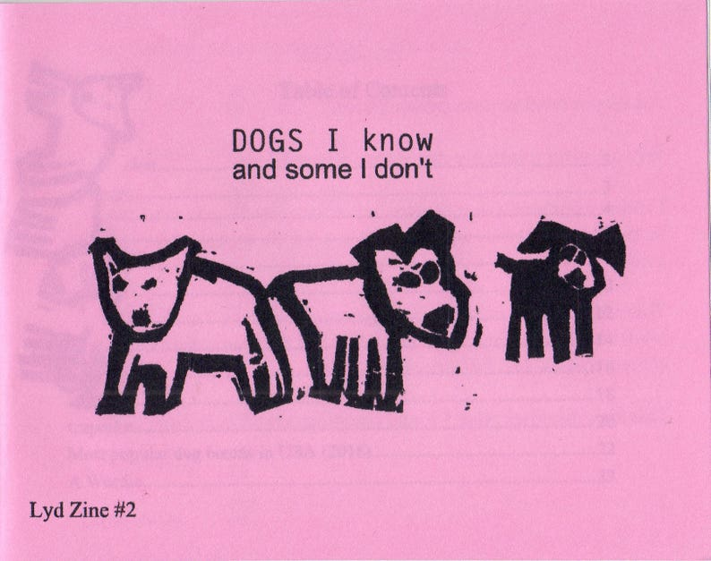Zine DOGS I KNOW and some I don't image 0