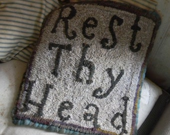 Rest Thy Head ~ PDF {downloadable} Rug Pattern from Notforgotten Farm™