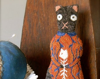 """the Punch Needle Folk Series ~ """"Katrina Whiskertwitch"""" PDF/DOWNLOADABLE PATTERN ~ from Notforgotten Farm™"""