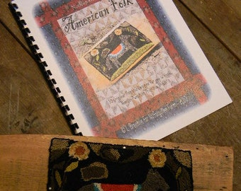PATTERN BOOK - American Folk - 10 patterns for you to hook, punch, stitch, applique - from Notforgotten Farm