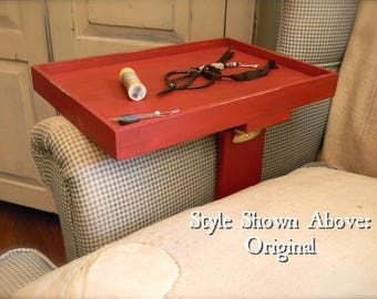 Wooden Stitcher's Tray© - Clamp On Armchair or Sofa - Choose Style and Finish Option - from Notforgotten Farm™