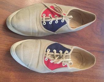 "Vintage Ladies Bowling Shoes ""Strike"" - Size 6 or 6.5"