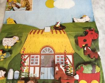 Vintage Jette Viby Design Farm Stuffed Toy Kit Denmark