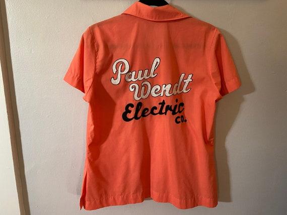 Vintage Chain Stitch Ladies Bowling Shirt - Paul W