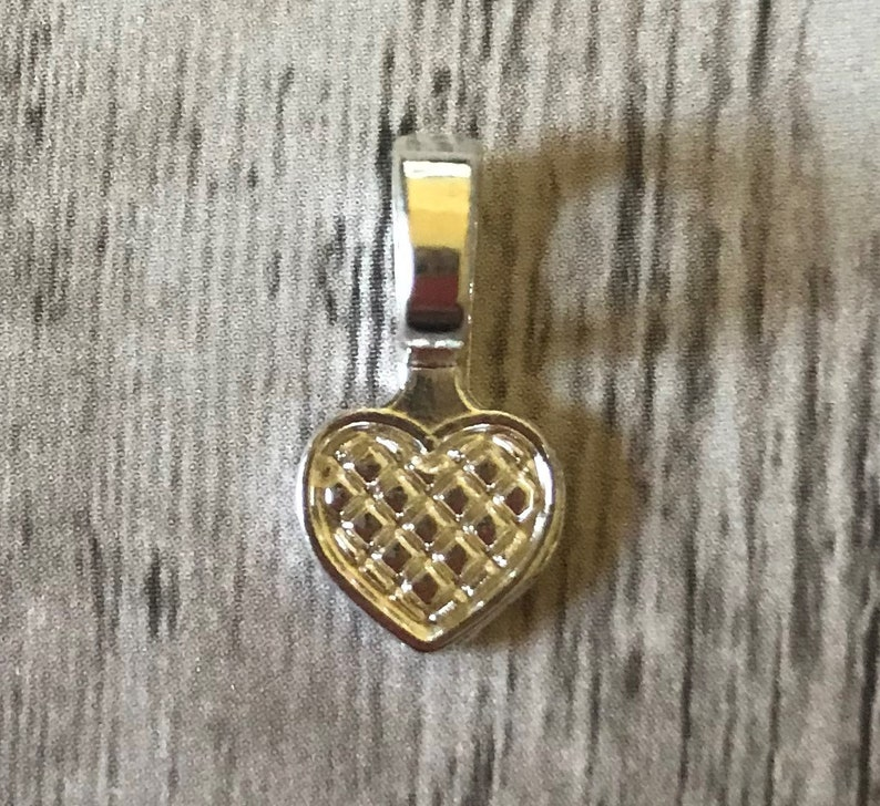 NEW Silver Plated Great for scrabble tile pendants Small Heart Jewelry Bails Set of 25 glass pendants and wood pendants